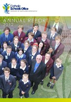2012 Catholic Schools Office Annual Report Cover