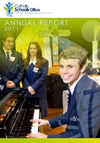 2011 Catholic Schools Office Annual Report Cover