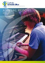 2013 Catholic Schools Office Annual Report Cover