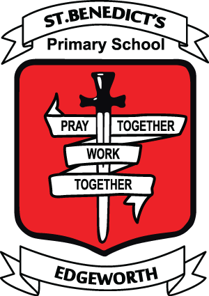 EDGEWORTH St Benedict's Primary School Crest Image