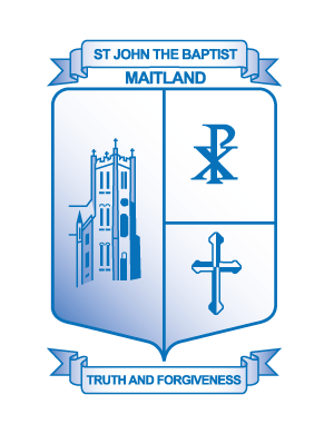 MAITLAND St John the Baptist Primary School Crest