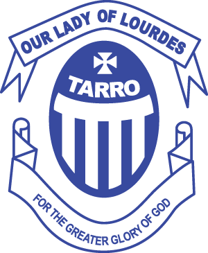 TARRO Our Lady of Lourdes Primary School Crest