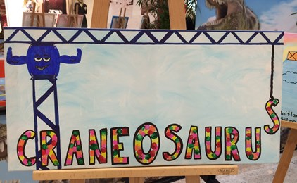 Image:'CraneOsaurus' wins St Joseph's a close second