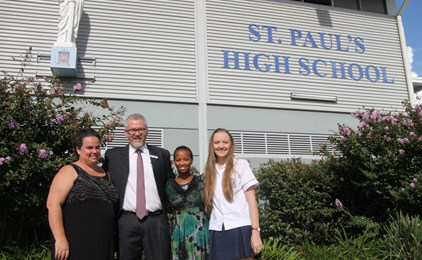 Image:St Paul's hosts special guests from St Jude's