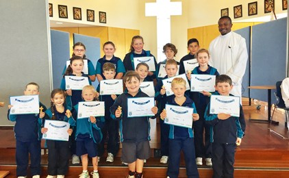 Image:St Aloysius celebrates Feast Day