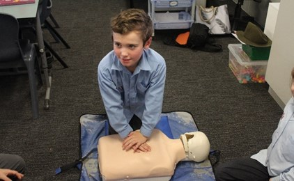 Image:Students from St Joseph's learn to save lives