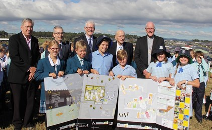 Image:The name of the Hunter's newest secondary school is officially announced – St Bede's Catholic College, Chisholm